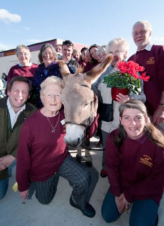 Group of people who help to provide a safe happy home for donkeys and other animals.