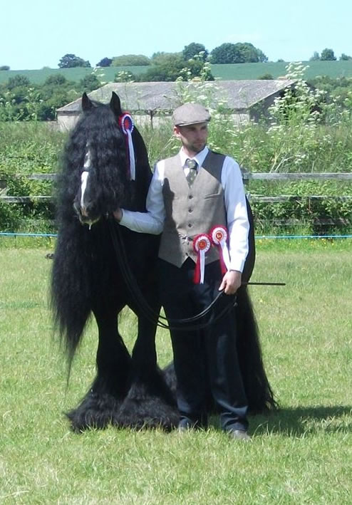 Jason Light with 'Bonnie Boy' winning of Reserve Supreme Champion